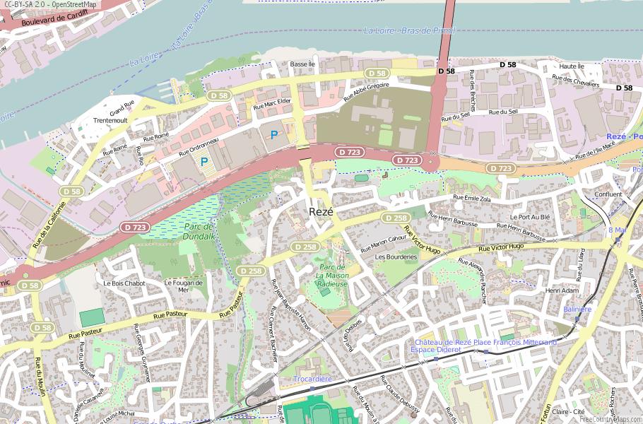 Rezé France Map