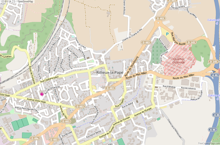 Rillieux-la-Pape France Map