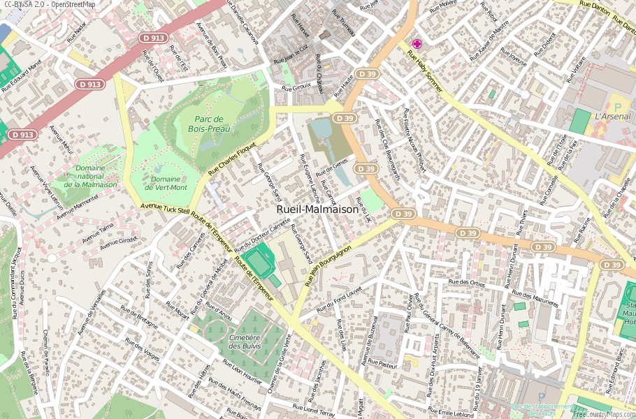 Rueil-Malmaison France Map