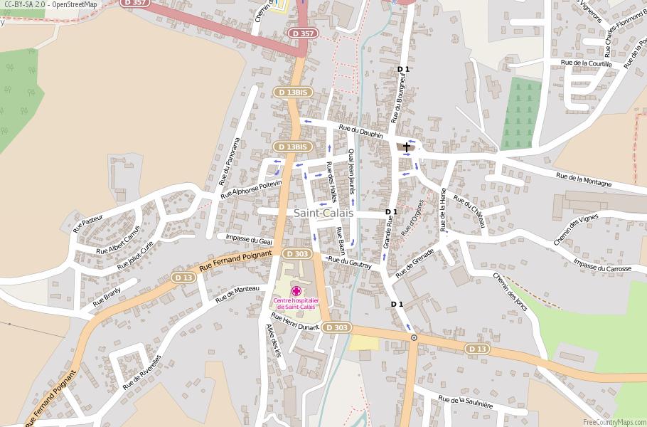 Map Of France Calais.Saint Calais Map France Latitude Longitude Free Maps