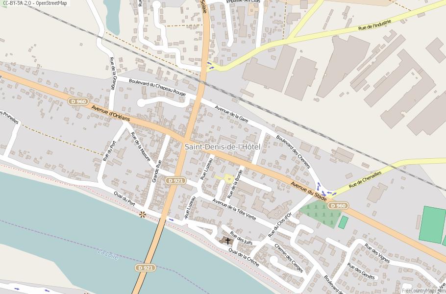 Saint Denis France Map.Saint Denis De L Hotel Map France Latitude Longitude Free Maps