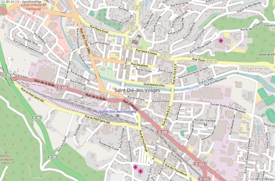 Saint-Dié-des-Vosges France Map