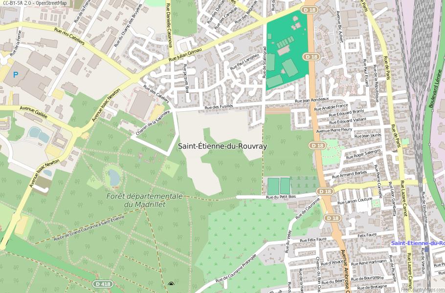 Saint-Étienne-du-Rouvray France Map
