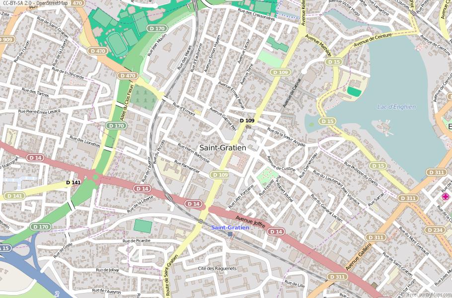 Saint-Gratien France Map