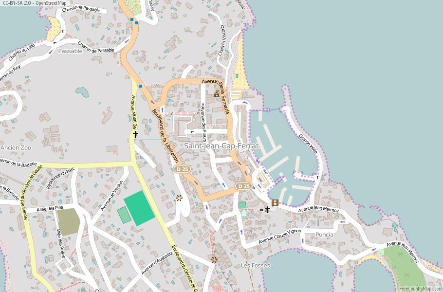 Saint-Jean-Cap-Ferrat Map France Latitude & Longitude: Free Maps