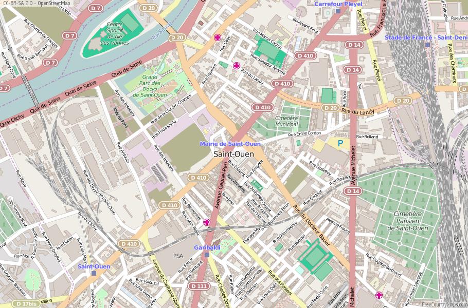 Saint-Ouen France Map