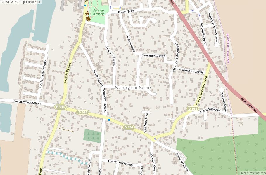 Saintry-sur-Seine France Map