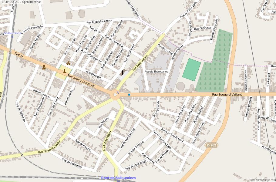Sallaumines France Map