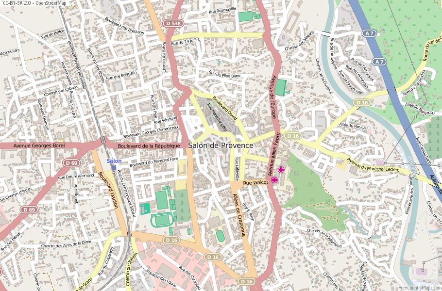 Salon-de-Provence France Map