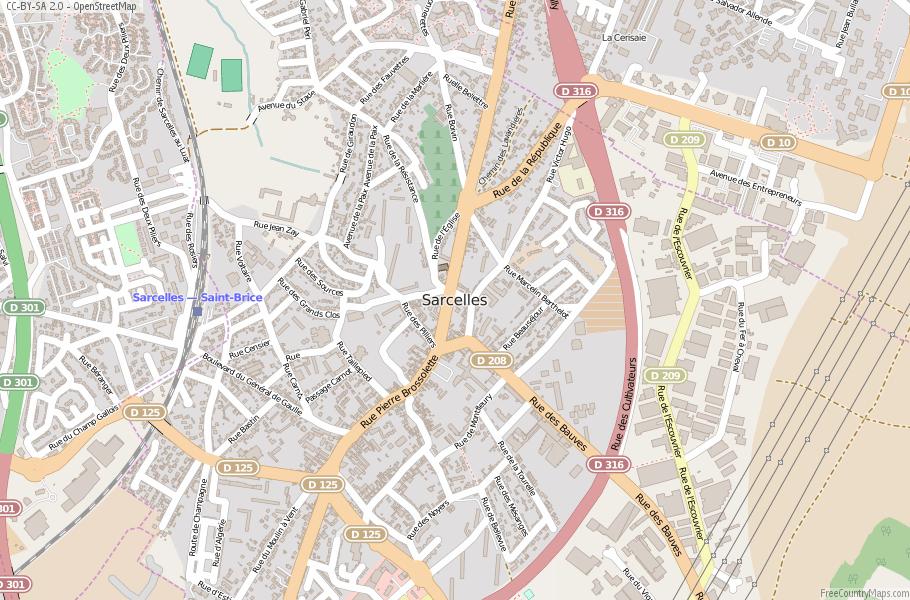 Sarcelles France Map