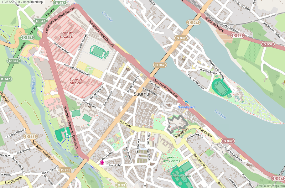 Saumur France Map