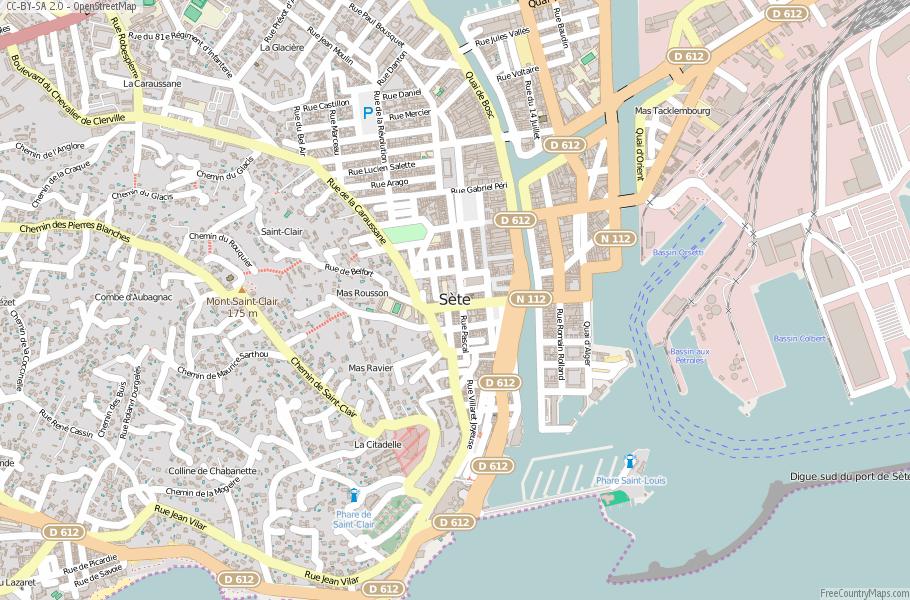 Sète France Map