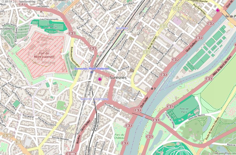 Suresnes France Map