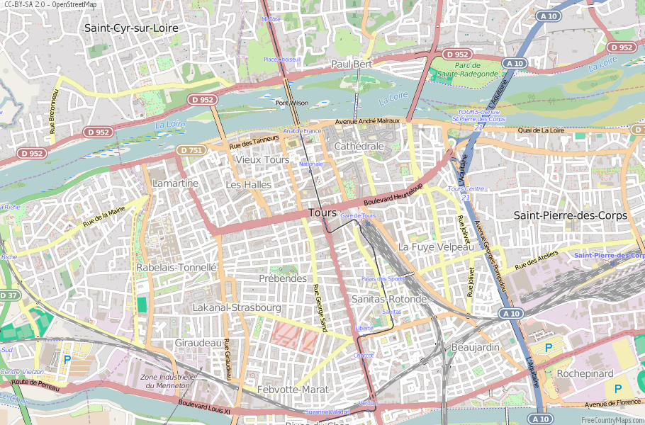 Tours France Map