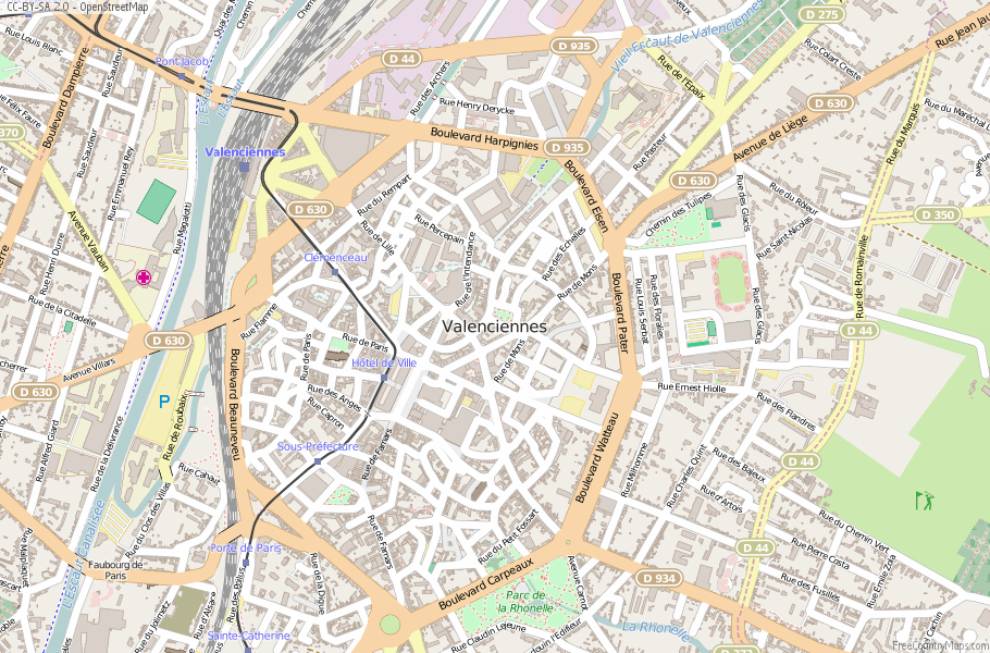 Valenciennes France Map
