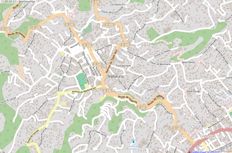 Vallauris France Map