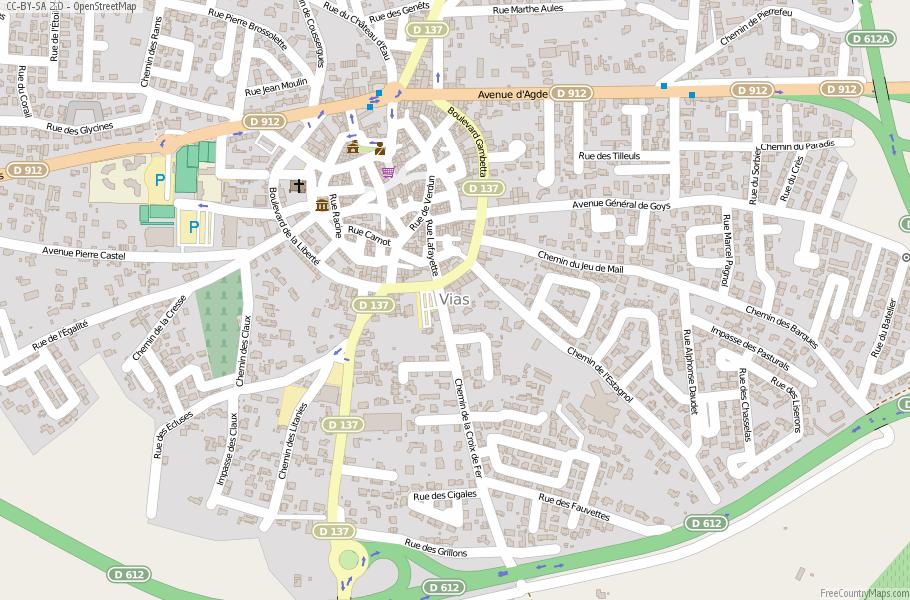 Vias map france latitude longitude free maps open vias map gumiabroncs Gallery