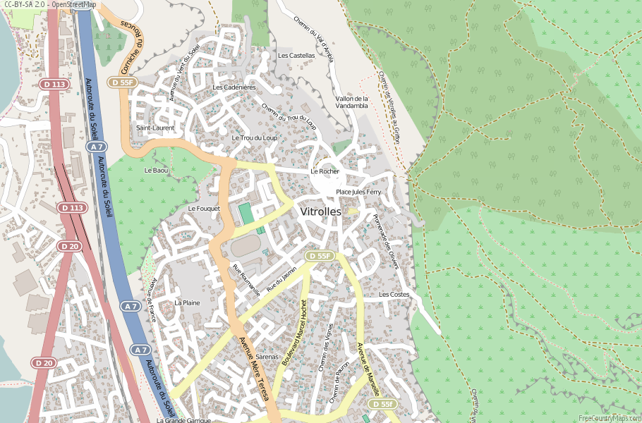 Vitrolles France Map