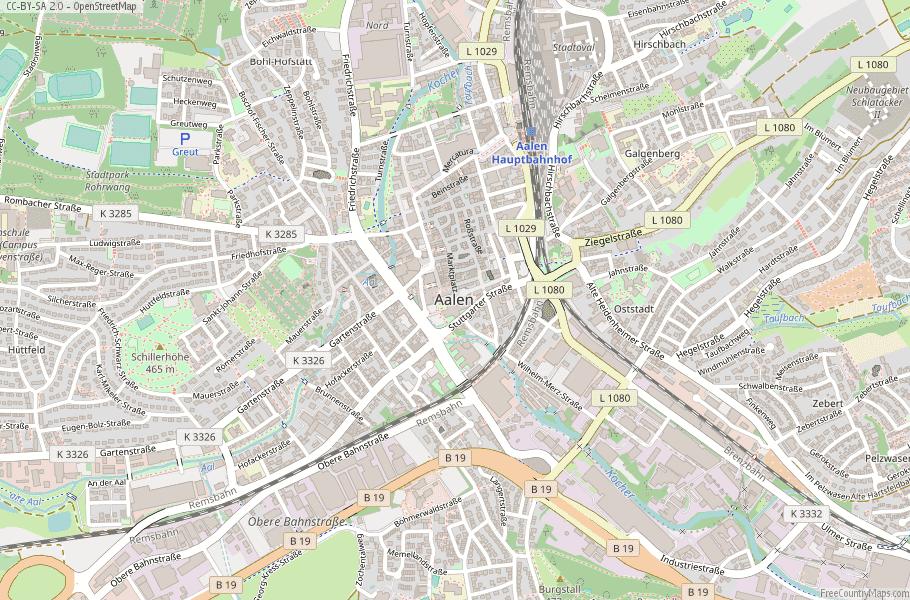 Aalen Germany Map