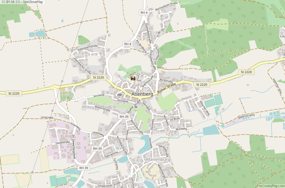 Abenberg Germany Map