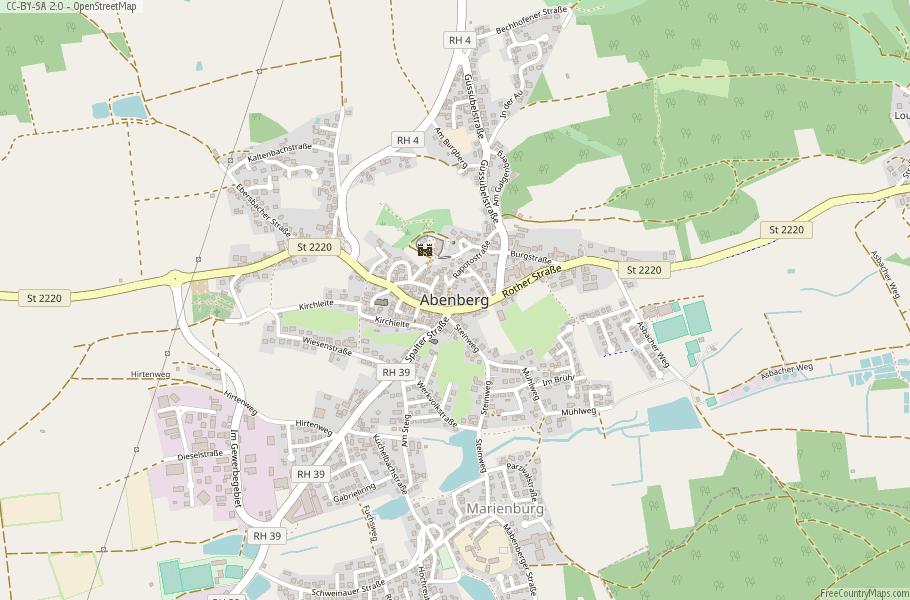 Abenberg Germany Map