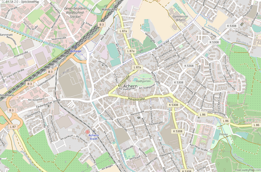 Achern Germany Map