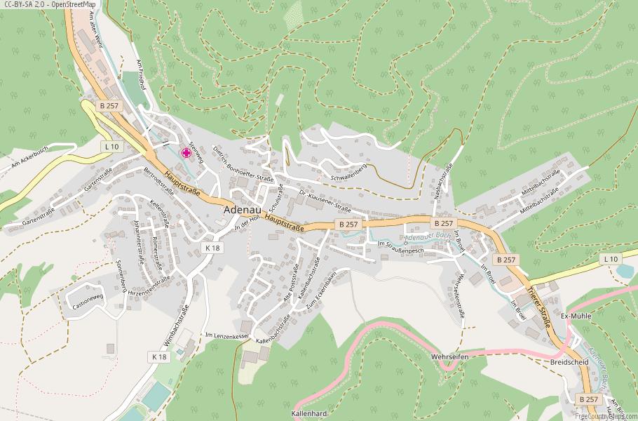 Adenau Germany Map