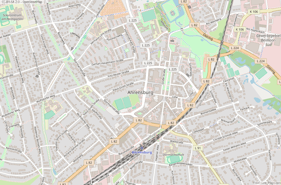 Ahrensburg Germany Map