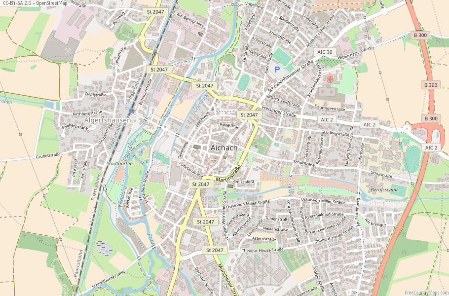 Aichach Germany Map