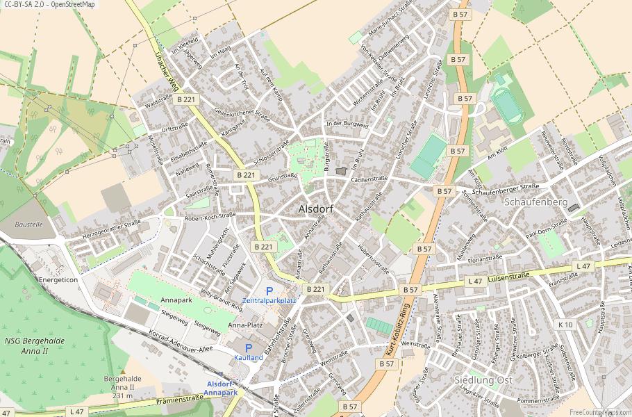 Alsdorf Germany Map