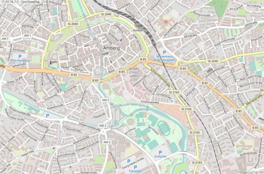 Amberg Germany Map