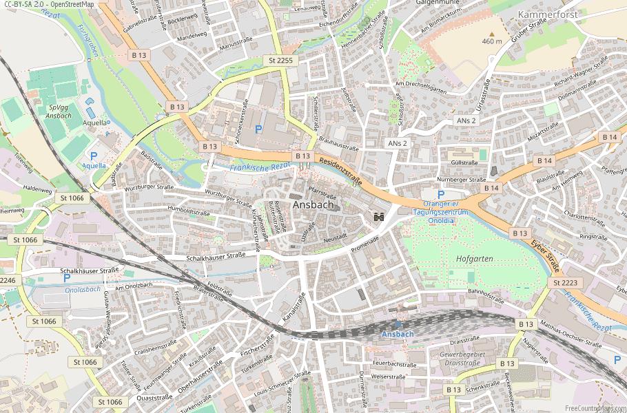 Katterbach Germany Map.Ansbach Map Germany Latitude Longitude Free Maps