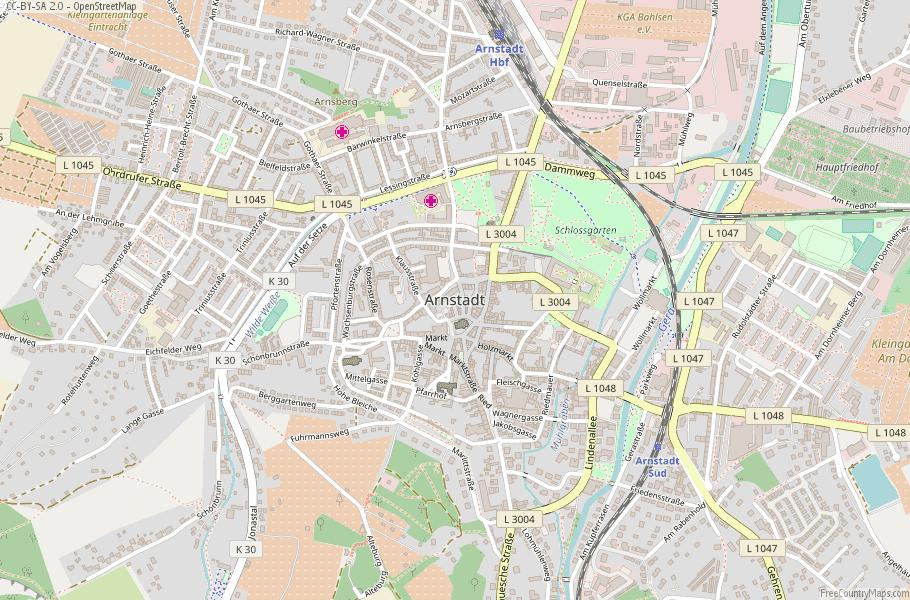 Arnstadt Germany Map