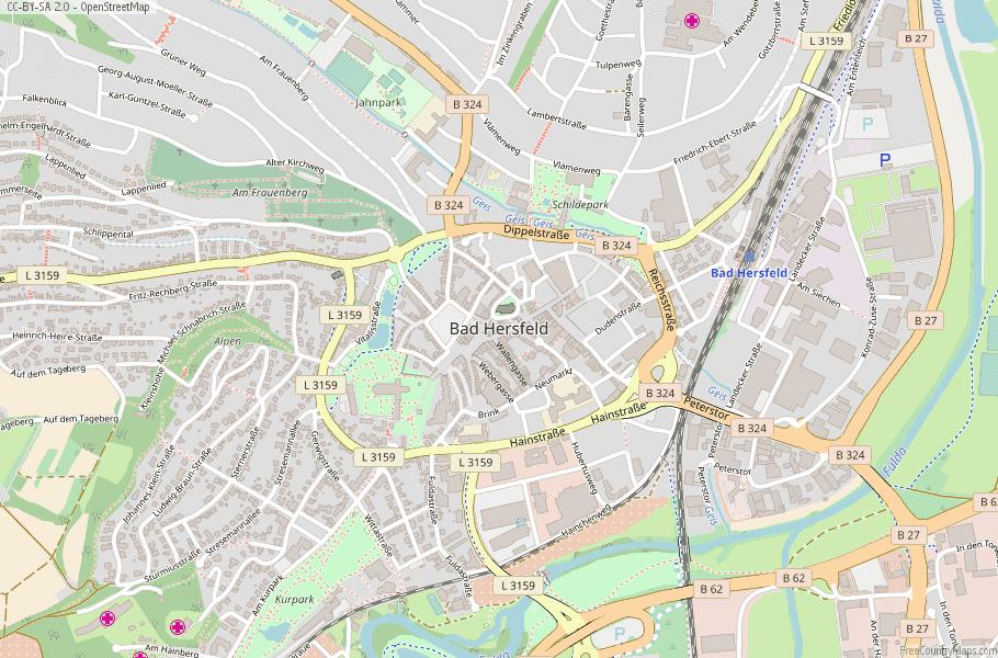 Bad Hersfeld Germany Map