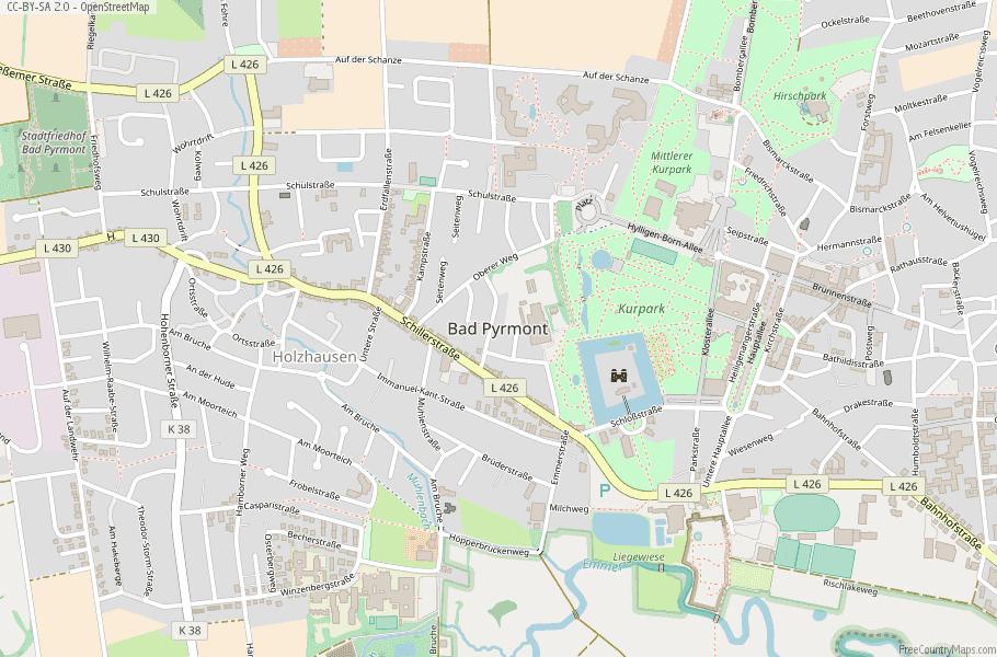 Bad Pyrmont Germany Map