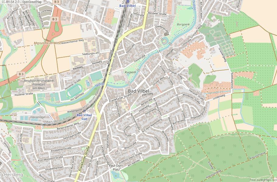 Bad Vilbel Germany Map