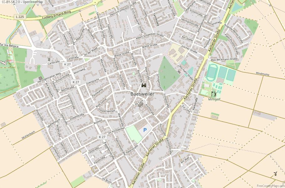 Baesweiler Germany Map