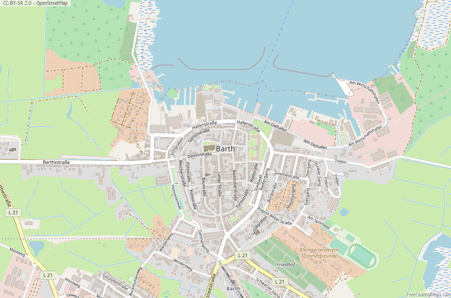 Map Of Zirndorf Germany.Barth Map Germany Latitude Longitude Free Maps