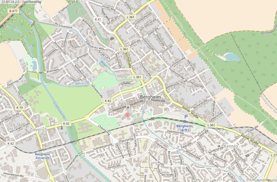 Bergheim Germany Map