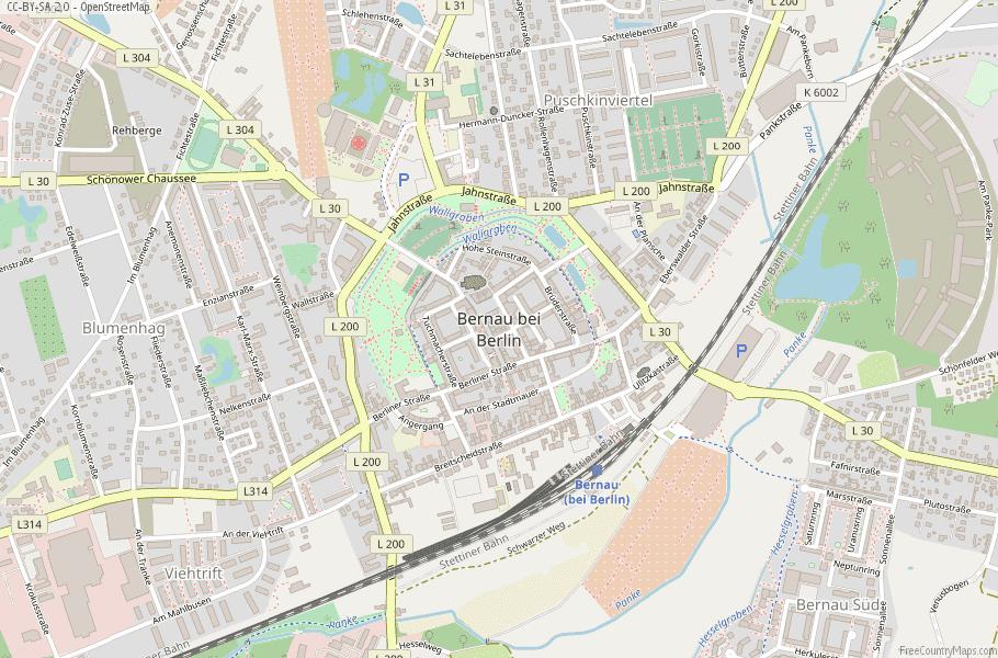 Bernau bei Berlin Germany Map