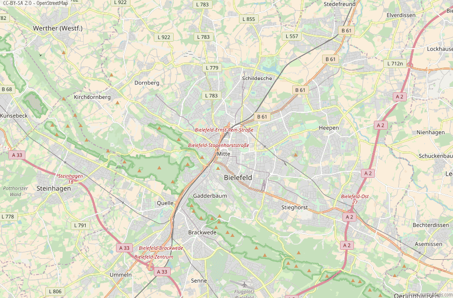 Bielefeld Germany Map