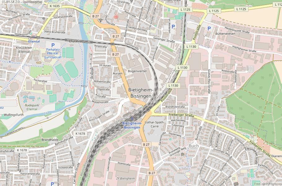 Bietigheim-Bissingen Germany Map