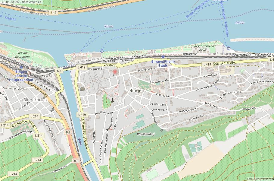 Bingen Germany Map.Bingen Map Germany Latitude Longitude Free Maps