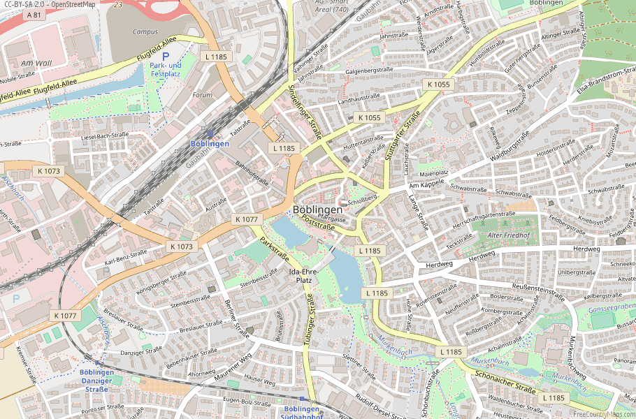 Böblingen Germany Map