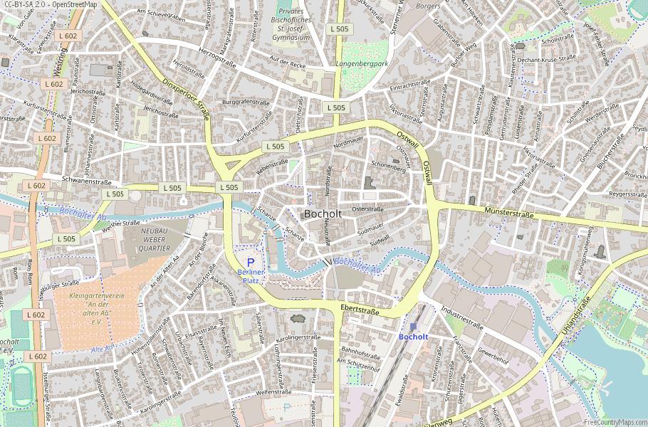 Bocholt Germany Map
