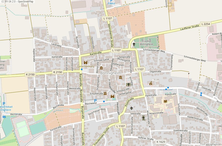 Bönnigheim Map Germany Latitude & Longitude: Free Maps