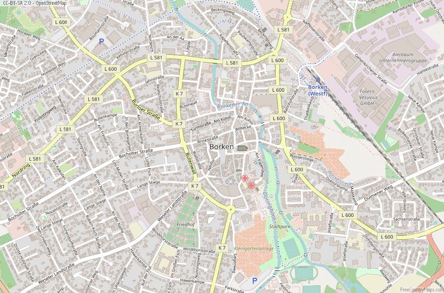 Borken Germany Map