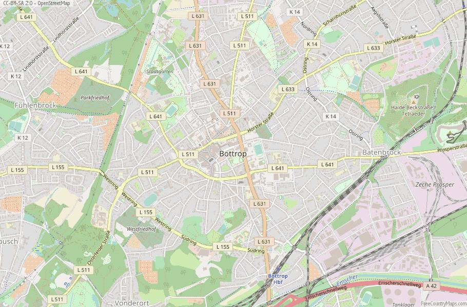 Bottrop Germany Map
