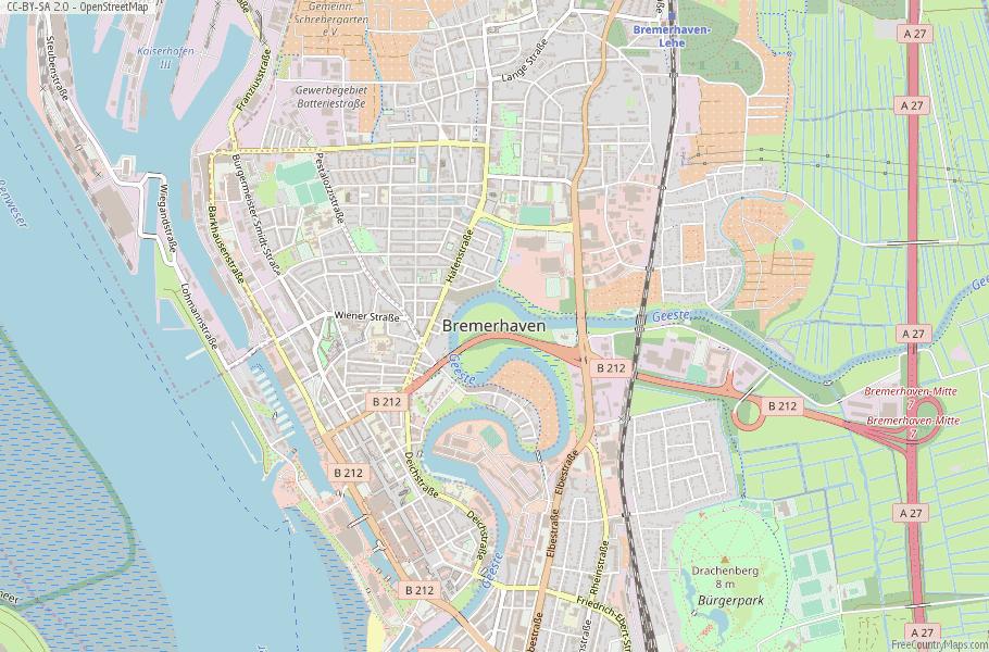 Bremerhaven Map Germany Latitude Longitude Free Maps