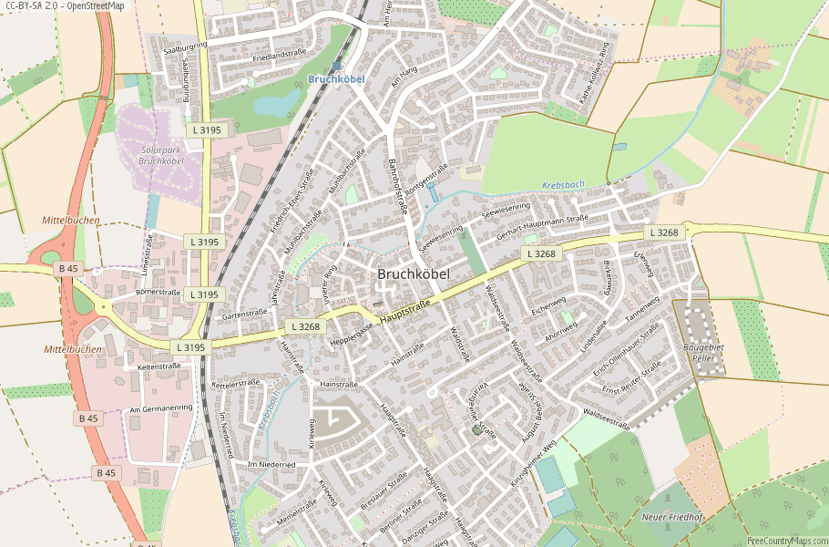 Bruchköbel Germany Map
